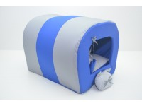 Будка тунель для собак і котів Zoo-hunt Комфорт літо синя №1 31х36х31 см