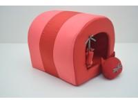 Будка тунель для собак і котів Zoo-hunt Комфорт літо червона №3 42х55,5х41 см