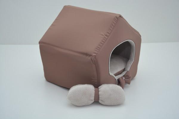 Хатка для собак і котів Zoo-hunt VIP плюш коричневий