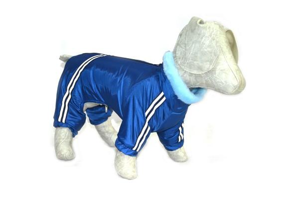 Комбінезон для собак Хутро синій.