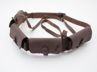 Патронташ на пояс на 24 патрона Zoo-hunt закритий шкіра Ретро коричневий 10301/2