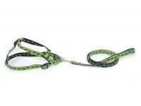 Комплект капроновий Лапки для собак і котів Zoo-hunt 1,6 см 120см чорно-салатовий