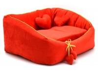 Лежак для котів і собак Zoo-hunt Ніжність червоний