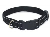 Нашийник для собак Zoo-hunt капроновий світловідбиваючий Неон ок 1,0 чорний