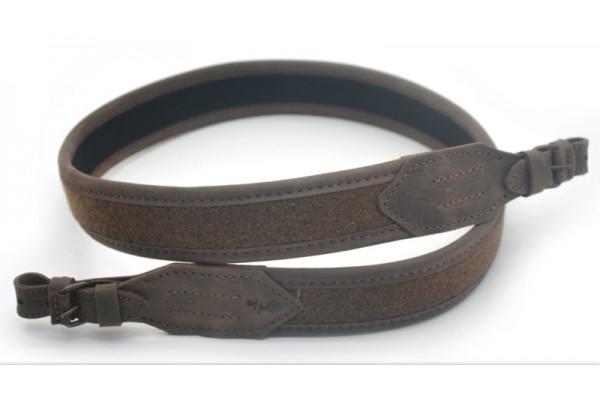 Ремінь для рушниці прямий шкіра Крейзі + лоден Zoo-hunt коричневий 4403/2
