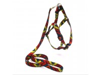 Комплект поводок та шлея для собак Zoo-hunt капронову 1,6 см Палітра червона