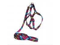 Комплект поводок та шлея для собак Zoo-hunt капронову 1,6 см Палітра рожевий