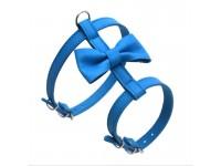 Нагрудник для малих собак Zoo-hunt Метелик №2 шкіра блакитний