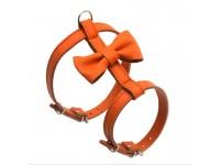 Нагрудник для малих собак Zoo-hunt Метелик №2 шкіра помаранчевий