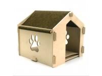 Еко будиночок 1 для кішок і малих собак з дерева