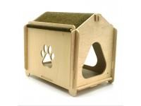 Еко будиночок 2 для кішок і малих собак з дерева