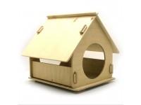Еко будиночок 3 для кішок і малих собак з дерева