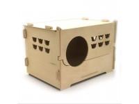 Еко пологовий будинок для кішок з дерева