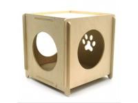 Еко будиночок Куб малий для кішок і малих собак з дерева