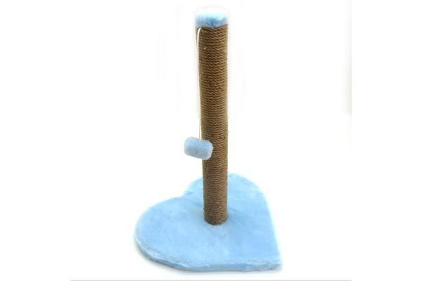 Когтеточка Драпак для кішок Zoo-hunt на підставці Гламур блакитний 36х36 см джут