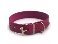 Нашийник для собак шкіряний тисненням ОТ Кісточка рожевий